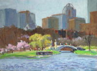 Boston Esplanade I, April. 9 x 12