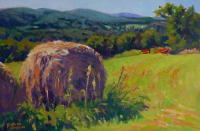 Osborne Farm Haystacks, CT. 12 x 18